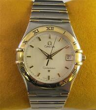 OMEGA Constellation Stainless Steel 18k Gold Men's Watch Date Swiss Dress