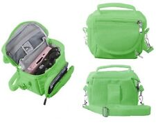 GREEN TRAVEL BAG CARRY CASE FOR NINTENDO 3DS DS LITE DSi XL - SHOULDER STRAP