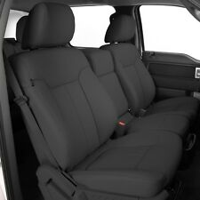 KATZKIN GREY LAPIS LEATHER SEAT COVER COVERS 2013 2014 FORD F150 SUPER CREW XLT