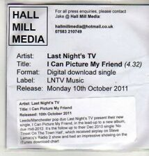 (CU193) Last Night's TV, I Can Picture My Friend - 2011 DJ CD