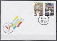 POLAND 2000 FDC SC#3534/35 set, National Pilgrimage to the Vatican
