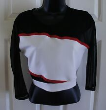 TopShop Black White Red Mesh Sheer stretch sexy 6 TV Prop Sing your face off