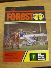 16/11/1985 Nottingham Forest v Manchester City  (the item is in good/very good c