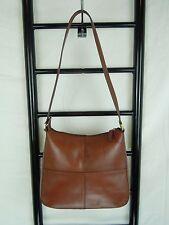 Etienne Aigner Brown Leather Top zip  Hobo Bag