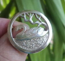 Scottish Sterling Silver Orkney Swan Brooch - Malcolm Gray of Ortak h/m  1989