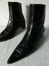 chaussures bottes bottines zip CUIR noir STEPHANE GONTARD made in France 38 TBE