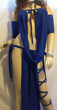 PRINCESS SLAVE SILKS GOREAN KAJIRA COSTUME COSPLAY BURNINGMAN CLUBWEAR BLUE