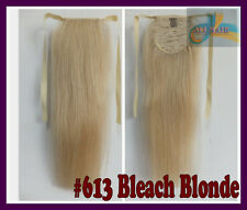 100g Deluxe Thick Ponytail One Hairpiece REMY Clip In Real Human Hair Extensions
