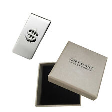 Silver Us Dollar Sign Money Clip In Deluxe Gift Box