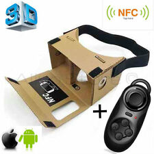 3D Virtual Reality VR Google Cardboard NFC + Bluetooth Controller Android iPhone