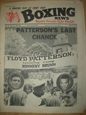 BOXING NEWS JULY 3 1964 FLOYD PATTERSON v EDDIE MACHEN - FIGHT PREVIEW