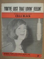 song sheet YOU VE LOST THAT LOVIN FEELIN Cilia Black 1964
