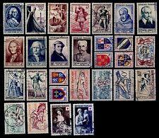 L'ANNÉE 1953 Complète, Oblitérés = Cote 119 € / Lot Timbres France n°940 à 967
