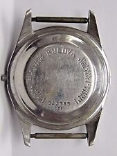 Antique Gents Bulova Stainless Steel Watch Case.M1 #D27885. Case size 42 x 33 mm