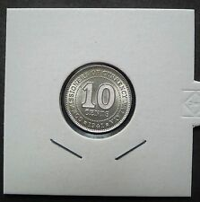 COMMISSIONERS OF CURRENCY MALAYA 1941  (KGVI) 10 CENTS COIN