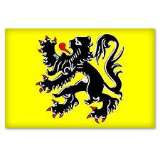 """FLANDERS Flemish Flag car bumper sticker decal 5"""" x 4"""""""