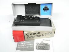 Canon datos plano posterior data back fn F. f1 New + antlg. instructions verpackg. Boxed