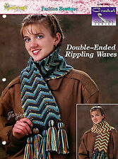 Double-Ended Rippling Waves ~ Ripple Scarf, Crochet Collector's pattern