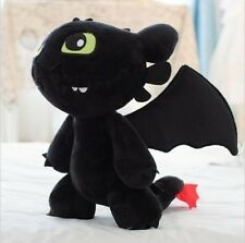 "12"" How to Train Your Dragon Plush Toothless Night Fury Soft Toy Doll Gift"