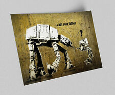 ACEO Banksy I am Your Father Graffiti Street Art Canvas Giclee Print