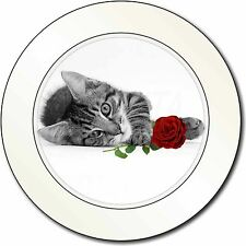 Cat with Red Rose Car/Van Permit Holder/Tax Disc Gift, AC-204R2T