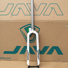 "MTB 26"" 27.5"" 29er Carbon & Aluminum Rigid Fork Straight Disc Brake White JAVA"