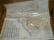Old 1897 Linen Reference Map Lancaster County Pennsylvania Railroads Populations
