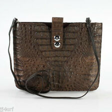 Luxury iPad Tablet Sleeve,Crocodile Leather, Brown with Strap,By Croton, $1,750