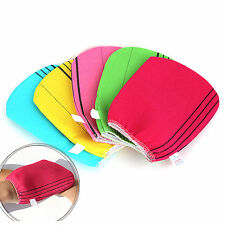 NEW 5 PCS KOREAN EXFOLIATING BODY SCRUB NYLON WASH TOWEL BATH MASSAGE SKIN CARE