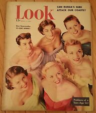 LOOK MAGAZINE APRIL 11 1950 DON NEWCOMBE TEENAGE GIRLS RUSSIA'S SUBS ATTACK