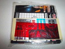 1985 G1 Transformers Dinobot **SLAG** Sealed Paperwork Instruction Sticker Sheet