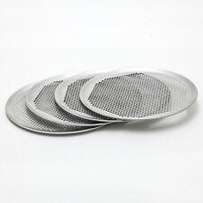 4 Stück Tiefkühl Pizzablech gelocht 33cm Aluminium Pizzabackblech perforiert ALU