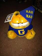 """VINTAGE DAKIN PLUSH - GARFIELD """"BACK TO SCHOOL""""    NEW WITH TAGS"""