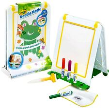 2 × Crayola Doodle Magic Tabletop Double Sided Easel & 4 Coloured Markers •OFFER