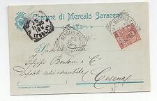 O833-MERCATO SARACENO-CARTOLINA COMM.1905