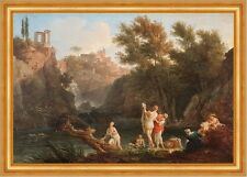The four times of day: Evening Claude Joseph Vernet Abend Baden See B A3 01197