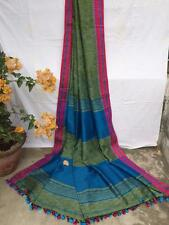 ETHNIC DESIGNER HANDLOOM PURE COTTON SARI CONTRAST BORDER & BLOUSE BENGAL
