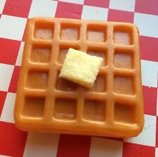 Realistic Faux Play Fake Food Breakfast WAFFLE Kitchen 3D REFRIGERATOR MAGNETS