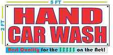 HAND CAR WASH Banner Sign NEW LARGER SIZE Best Quality for the $$$