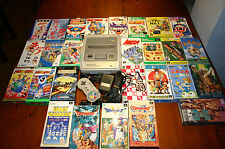 SUPER NINTENDO/FAMICON CONSOLE + 27 GAMES CON BOX +CONTROLLER ORIGINALE