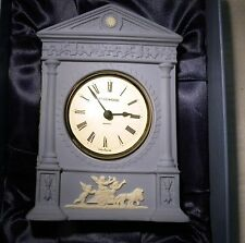 WEDGWOOD JASPER  HELICON MANTLE CLOCK WEDGWOOD INTERNATIOAL SOCIETY BOXED