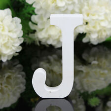 J Wood Wooden Letter White Alphabet Freestanding Art Home Wedding Party Decor 03