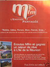 PUBLICITÉ RADIO MFM L'ÉMOTION PARTAGÉE ÉCOUTEZ ET GAGNEZ UN SÉJOUR A LA RÉUNION