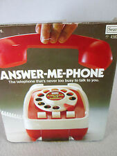 """Vintage 1976 battery operated, talking toy  """"Answer-Me-Phone"""" by Sears"""
