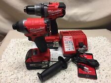 Milwaukee•M18 Volt•FUEL•2-Tool Combo KIT•with ONE-KEY•2796-22•5.0 Batteries•New!
