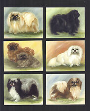 CIGARETTE/TRADE/CARDS. Imperial. Dogs. PEKINGESE. (1999). (Set of 6)