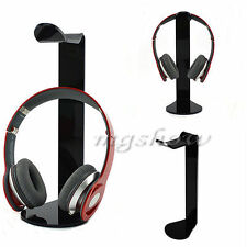 Black Acrylic Headphone Display Rack Stand Holder Hot Earphone Headset Hanger