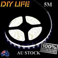 Waterproof Flexible 12V5M 3528 300SMD White LED Strip Light DRL Car Boat Camping