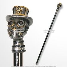 "37"" Steampunk Colored Gas Mask Top Hat Handle Gentlemen's Walking Cane Stick"