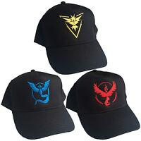 Team Valor Mystic Instinct Embroidered Baseball Cap - Pokemon GO Fan Unisex Hat